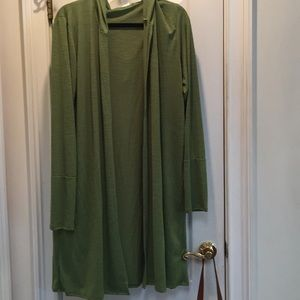 New w/out tags Lime green hooded long cardigan